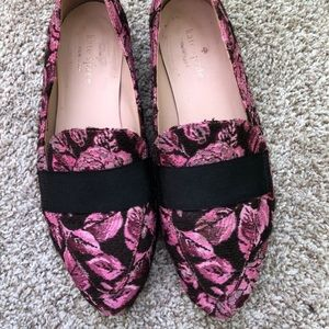 Kate Spade Brocade Rose Loafers